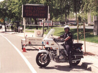 Photo of traffic police officer on a motor bike