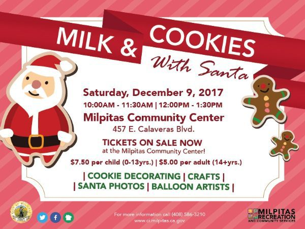 Milk And Cookies With Santa City Of Milpitas